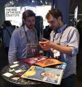 Augusto Petrone informando sobre su startup